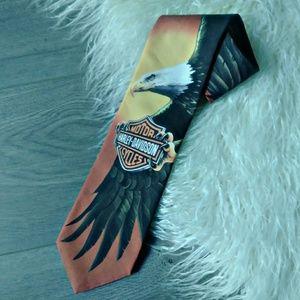 [[ vintage ]] Harley Davidson 'Flying Eagle' Tie